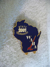 TP- 2001 STATE TOURNAMENT WAHA HOCKEY PIN   #41356