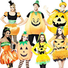Pumpkin Halloween Fancy Dress Party Adults Kids Mens Ladies Child Costume Outfit