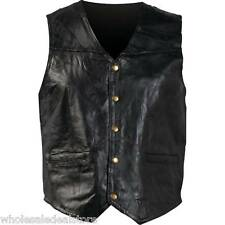 New Genunie Leather L Motorcycle Vest For Men Or Women Italian Design Biker