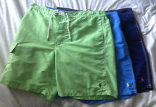 NWT Polo Ralph Lauren SIZE X-LARGE XL Swim Trunks Board Shorts GREEN Blue Pony