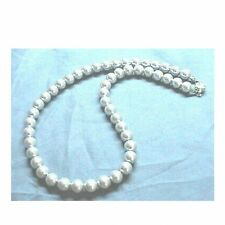 GRAY/GREY Sea Shell Pearl Necklace Wedding Bridal Bridesmaids Prom 6mm 8mm 10mm