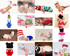 Baby Infant Newborn Aminal Knit Costume Photography Prop Crochet Beanie Hat Cap