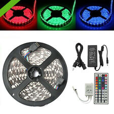 5M 300 LEDs 5050 SMD RGB Non-Waterproof Strip Light 24/44 Key IR Remote /Adapter