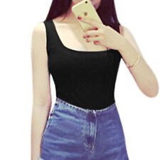 Women Scoop Neck Sleeveless Pullover Casual Tank Top