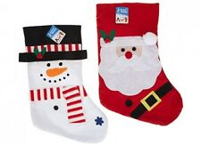 Wholesale-Resellers-Christmas-24 x CHRISTMAS STOCKING  2 ASST SANTA / SNOWMAN