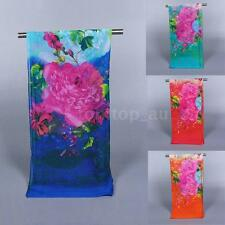 Fashion Women Chiffon Scarf Floral Print Long Thin Shawl Wrap Lady Pashmina OO8Y