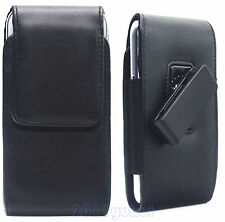 BlACK LEATHER POUCH COVER CASE ROTATION BELT CLIP FOR IPHONE 6G/6S/6PLUS/6s Plus
