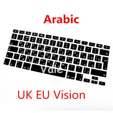 "Arabic UK EU Keyboard Cover Skin for Apple Macbook Air Pro Retina MAC 13"" 15"" 17"