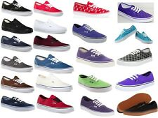 Vans Authentic Classic Canvas Black White Red Navy Blue Gray Original Shoes NEW!