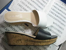 NEW NIB Nine West Confetty Womens Open Toe Leather Wedges Heels Shoes