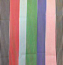3mm Candy Stripe Poly Cotton Fabric Fat Quarter 50x56 - Meter 100x112cm