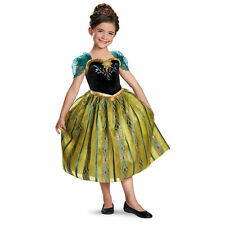 Authentic Disney Frozen Movie Princess Anna Deluxe Halloween Costume Dress NEW