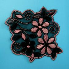 Flower Floral Sew on Collar Lace Patch Cute Applique Badge Embroidered Applique