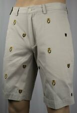 POLO Ralph Lauren Beige Multi Crest Golf Shorts NWT