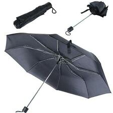 Black Mini Compact 3 Folding Rain Gear Umbrella Portable Compact Umbrella G57