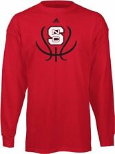 NC State Wolfpack adidas Long Sleeve Basketball Groove T-Shirt by adidas-Red