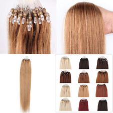 "100S 18""20""22"" Easy Loop Micro Ring Beads Tipped Real Remy Human Hair Extensions"