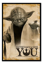 Framed Star Wars Yoda May The Force Be With You Poster New
