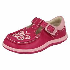 Girls Clarks Alana Star FST Hot Pink Leather Shoes