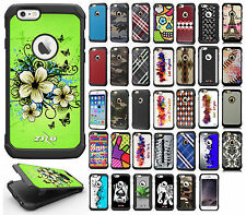 Apple iPhone 6 6S Plus Rubber IMPACT TRI HYBRID Case Skin Phone Cover Accessory