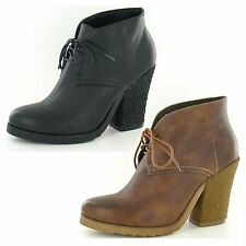 SALE WAS £29.99 Now £9.99 Ladies down to earth heeled ankle boots style f50021