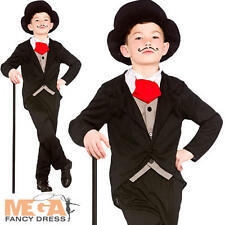Victorian Rich Gentleman Boys Fancy Dress Upper Class Dickens Kids Child Costume