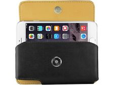 Cellet Premium Leather Cover Belt Side Case Pouch Clip Holster for Cell Phones