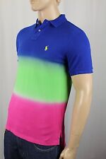Polo Ralph Lauren Dip Dyed Custom Fit Mesh Shirt Yellow Pony NWT