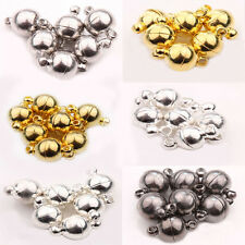 5/10Set Ball Round Strong Magnetic Clasps Silver Gold White K Gun Black 6/8/10mm