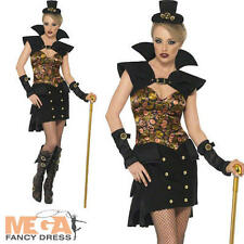 Steam Punk Victorian Sexy Vampiress Halloween Ladies Vampire Fancy Dress Costume