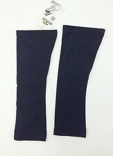 No Logo Super Roubaix Cycling KNEE WARMERS in Black - Made in Italy by GSG