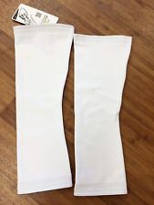 No Logo Super Roubaix Cycling KNEE WARMERS in White- Made in Italy by GSG