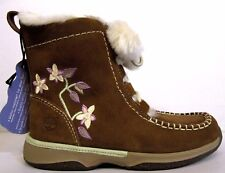 INFANTS CHILDRENS GIRLS LEATHER TIMBERLAND SHEARLING ZIP LACE UP BOOTS BOOTIES