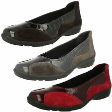 Ladies Easy b Ripon Leather Slip On Shoes