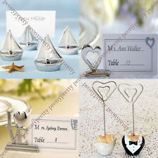 Table name place number card holder wedding party reception photo memo clip