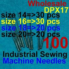 100 Industrial Sewing Machine Needles 135x17 Dpx17 14 16 18 20 for Singer Juki