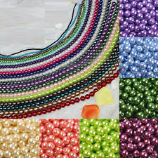 Wholesale 6/8/10/12mm Round Glass Pearl Loose Spacer Beads Charm Finding Crafts