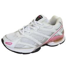 LADIES WHITE LACE-UP TRAINERS SPORTS LACE JOGGING RUNNING GYM CASUAL SHOES 3-8