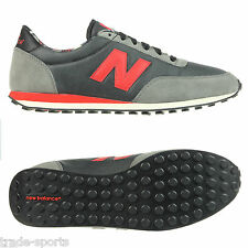 NEW BALANCE 410 TRAINERS BLACK GREY RED SIZES 7 - 12.5 SNEAKERS SHOES U410FGR