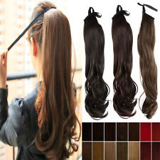 Drawstring Ponytail Real As Women Pony Tail Clip in Hair Extension Hairpiece NOL
