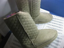 NEW HOT CAKES QUILTY SPECIAL DESIGN COMFY BOOTS SIDE ZIPPER  COLOR