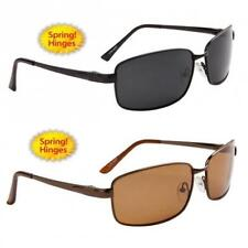 New Mens Polarized Driving Fishing UV400 Design Black Metal Sunglasses 8205