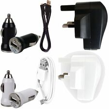 USB MAINS ADAPTER CHARGER+CAR BULLET+DATA SYNC LEAD FOR SAMSUNG I8700 OMNIA 7