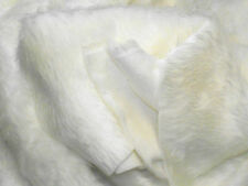 Plain Fun Faux Fur Fabric Material ECRU (OFF WHITE)