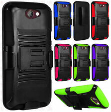 For HTC One A9 Combo Holster HYBRID KICK STAND Hard Rubber Case Phone Cover