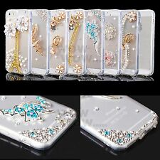 3D Crystal Rhinestone Pearl Diamond Clear Bling TPU Cover Cases For Apple iPhone