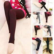 Women's Winter Thick Warm Skinny Leggings Stretchy Bodycon Pencil Pants Trousers