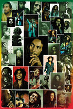 Bob Marley Photo Collage Poster New - Maxi Size 36 x 24 Inch
