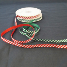 5 Metres 9mm Bertie's Bows Candy Cane Merry Christmas Grosgrain Craft Ribbon