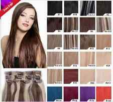 """15""""18"""" 20"""" 100% Remy Real Human Hair Straight Clip in Extensions Full Head 7PCs"""